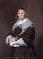 Portrait of a Standing Woman painting reproduction, Frans Hals