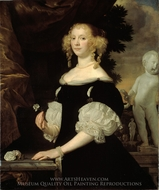 Portrait of a Woman painting reproduction, Abraham Van Den Tempel