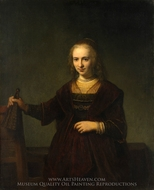 Portrait of a Woman painting reproduction, Rembrandt Van Rijn