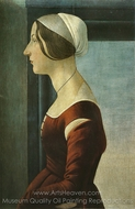 Portrait of a Woman painting reproduction, Sandro Botticelli