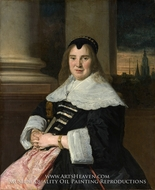 Portrait of a Woman painting reproduction, Frans Hals