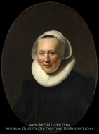 Portrait of a Woman by Rembrandt Van Rijn