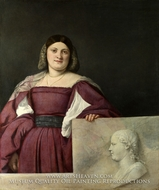 Portrait of a Woman called La Schiavona by Titian