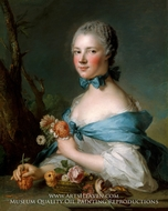 Portrait of a Woman, Called the Marquise Perrin de Cypierre by Jean Marc Nattier