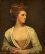 Portrait of a Woman (Emily Bertie Pott) painting reproduction, George Romney