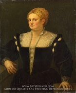 Portrait of a Woman (Pellegrina Morosini Capello) by Titian