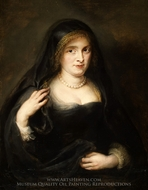 Portrait of a Woman, Probably Susanna Lunden (Susanna Fourment) painting reproduction, Peter Paul Rubens
