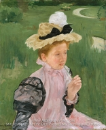 Portrait of a Young Girl by Mary Cassatt