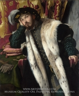 Portrait of a Young Man painting reproduction, Moretto Da Brescia