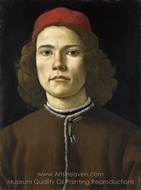 Portrait of a Young Man painting reproduction, Sandro Botticelli