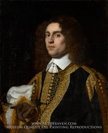 Portrait of a Young Man in Military Costume painting reproduction, Bartholomeus Van Der Helst