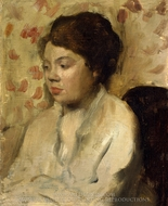 Portrait of a Young Woman painting reproduction, Edgar Degas