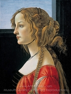 Portrait of a Young Woman painting reproduction, Sandro Botticelli
