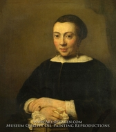Portrait of a Young Woman painting reproduction, Willem Drost