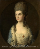 Portrait of a Young Woman, Called Miss Sparrow painting reproduction, Thomas Gainsborough