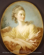 Portrait of a Young Woman (Gabrielle de Caraman, Marquise de la Fare) painting reproduction, Jean-Honore Fragonard