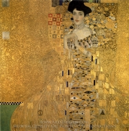 Portrait of Adele Bloch-Bauer I painting reproduction, Gustav Klimt