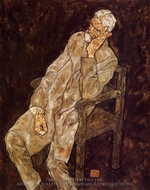 Portrait of an Old Man (Johann Harms) painting reproduction, Egon Schiele