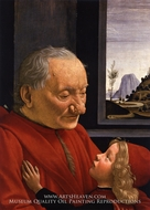 Portrait of an Old Man with a Young Boy by Domenico Ghirlandaio
