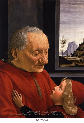 Domenico Ghirlandaio, Portrait of an Old Man with a Young Boy oil painting reproduction