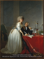 Portrait of Antoine-Laurent and Marie-Anne Lavoisier by Jacques-Louis David