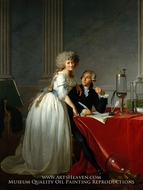 Portrait of Antoine-Laurent and Marie-Anne Lavoisier painting reproduction, Jacques-Louis David