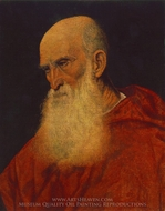 Portrait of Cardinal Bembo painting reproduction, Titian
