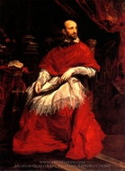 Portrait of Cardinal Guido Bentivoglio painting reproduction, Sir Anthony Van Dyck