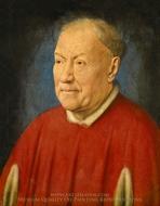 Portrait of Cardinal Niccolo Albergati painting reproduction, Jan Van Eyck