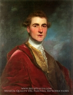 Portrait of Charles Hamilton, 8th Early of Haddington painting reproduction, Sir Joshua Reynolds