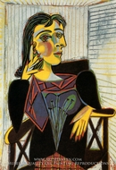 Portrait of Dora Maar by Pablo Picasso (inspired by)
