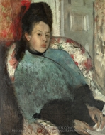 Portrait of Elena Carafa painting reproduction, Edgar Degas