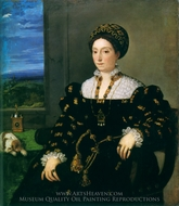 Portrait of Eleonora Gonzaga della Rovere painting reproduction, Titian
