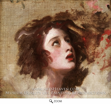 Painting Reproduction of Portrait of Emma Hart as Miranda (Lady Hamilton), George Romney