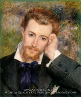 Portrait of Eugene Murer painting reproduction, Pierre-Auguste Renoir