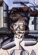 Portrait of Germaine Raynal painting reproduction, Juan Gris