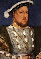 Portrait of Henry VIII, King of England painting reproduction, Hans Holbein, The Younger