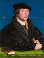 Portrait of Hermann von Wedigh III painting reproduction, Hans Holbein, The Younger