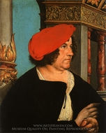 Portrait of Jakob Meyer zum Hasen painting reproduction, Hans Holbein, The Younger