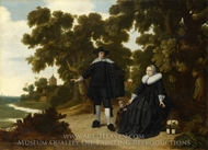 Portrait of Jan van Hensbeeck, his Wife and a Child painting reproduction, G. Donck