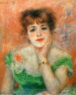 Portrait of Jeanne Samary painting reproduction, Pierre-Auguste Renoir