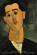 Portrait of Juan Gris by Amedeo Modigliani