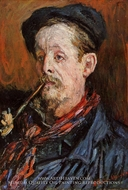 Portrait of Leon Peltier by Claude Monet