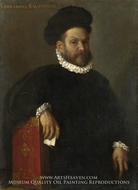 Portrait of Leonardo Salvagno painting reproduction, Giovanni Battista Moroni