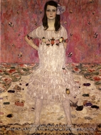 Portrait of Mada Primavesi painting reproduction, Gustav Klimt