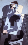 Portrait of Madame Josette Gris painting reproduction, Juan Gris