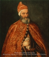 Portrait of Marcantonio Trevisani painting reproduction, Titian