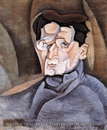 Portrait of Maurice Raynal by Juan Gris