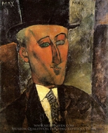 Portrait of Max Jacob painting reproduction, Amedeo Modigliani