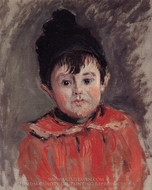 Portrait of Michael with Hat and Pom Pom painting reproduction, Claude Monet
